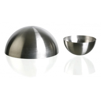 "Matfer Bourgeat Stainless Steel Hemisphere Mold Ø 3 3/16"", 1 1/2""High - Pack Of 6"