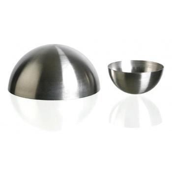 "Matfer Bourgeat Stainless Steel Hemisphere Mold Ø 4 3/4""x 2 3/8""- 15 1/4 Oz. - Each"