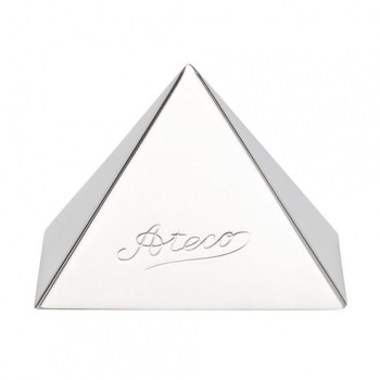 "Ateco Stainless Steel Pyramid Mold 2 1/4"" Base"