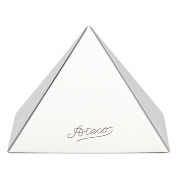 "Ateco Stainless Steel Pyramid Mold 4 3/4"" Base"