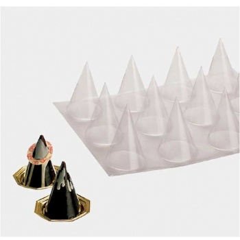 Cones Plastic Thermoformed Molds - Pack of 5 Sheets - 12 Molds each - 3.54'' High