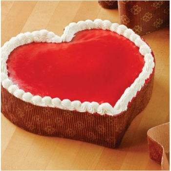 Small Heart Paper Loaf Cake Mold 5 1/8''x5''x1 5/16'' - 300pcs