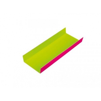 Mono Portion FoldingHaevy Cardboard Boards Pink / Green- Rectangular - 200 pcs -130x45mm - 5''x 1.77''