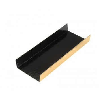 Black / Gold Long Rectangle Foldable Monoportion Board - 13 x 4.5 cm - Black Inside - 200pcs