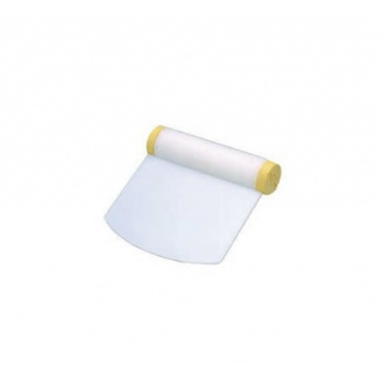 Plastic Rigid Dough Scraper -Rounded Edge - 4.3''