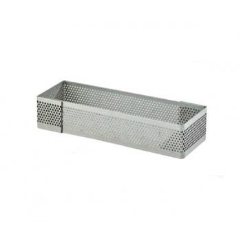 Microperforated Rectangle Finger Tart Rings 12x4 cm - 2cm High