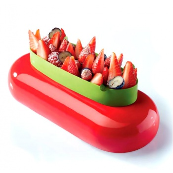 Silicone Entremets Mold - PLISSEE - KE013 - mm ? 180 x 47 H - Vol: 1 000 ml