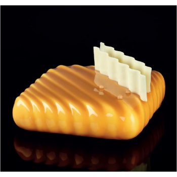 Pavoni Silicone Entremets Mold - POP Pillow - KE023 -162 x 162 x 46mm H - Vol: ~ 1000 ml