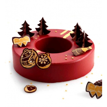 Rubber Chocolate chablons - Christmas Trees Clips - Small 4.5cm x 4.5cm