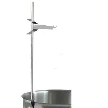 Stainless Steel Whisk and Thermometer Holder - Height: 17.7'' Width: 4.3''