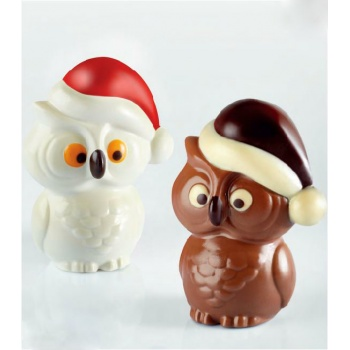 Pavoni Thermoformed Mold - CIVETTA - Christmas Owls 115 x 85 x 150 mm - Weight: ~ 150 g- 2 Sets