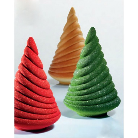 Pavoni Thermoformed Mold - ALBERO WAVE - Christmas Trees Ø 160 x 200mm H - Weight: 260 g