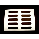 Oval Éclair Rubber Chocolate Chablons Mat for Eclairs - 10 Indents - 32 x 132 mm