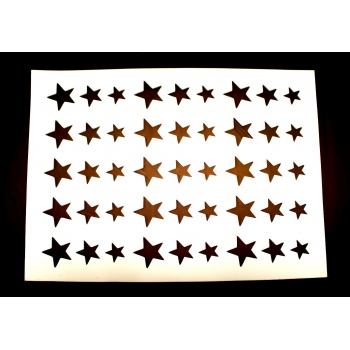 Rubber Chocolate Chablons - Stars - 3 Differents Star sizes 2.8cm - 3.4cm - 4.4cm