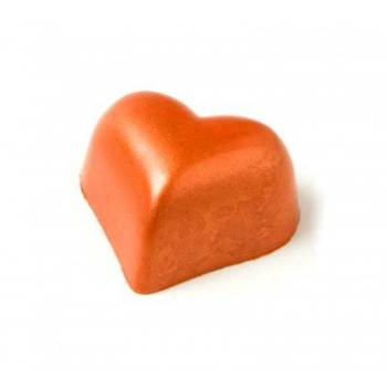 Polycarbonate Chocolate Heart Mold 30x36x19 mm - 21 Cavity - 14gr