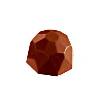 Polycarbonate Chocolate Mold Diamond - 28,5x28,5x18 mm - 3x8 pc/10 gr - 275x135x24mm