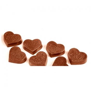 Polycarbonate Chocolate Valentine Heart Mold 26x30x7 mm - 21 Cavity - 4gr - 7Fig