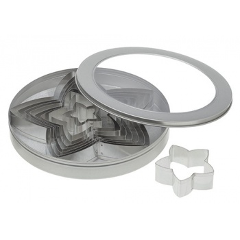 Ateco Star Stainless Steel Cookie Cutter Set - Set of 10 pcs