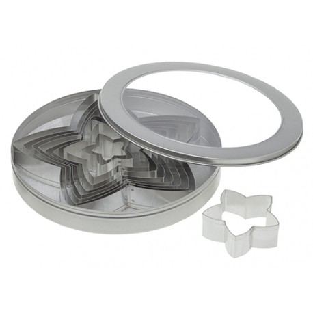 Ateco Star Stainless Steel Cookie Cutter Set - 8pcs