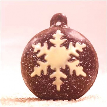 Christmas Decoration Thermoformed Chocolate Molds - 12 Decorated Hemisphere - Ø 60mm - 40 gr approx