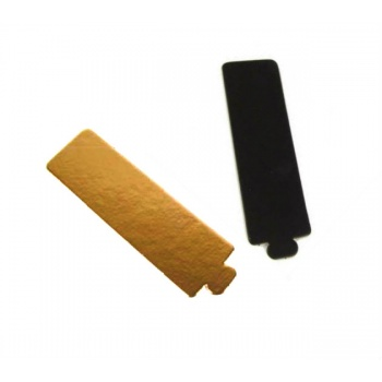 Rectangular Monoportion Pastry Tray Gold / Black - 135 x 40 mm - 5.5''x 1.57'' - 200 pces