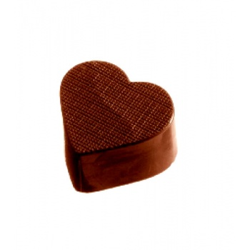 Polycarbonate Chocolate Textured Heart Mold 32x28x15 mm - 32 Cavity - 11gr