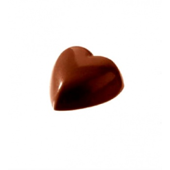 Polycarbonate Chocolate Mold Small Heart - Ø20x8 mm - 6x10 pc / 2 gr -275x135x24mm