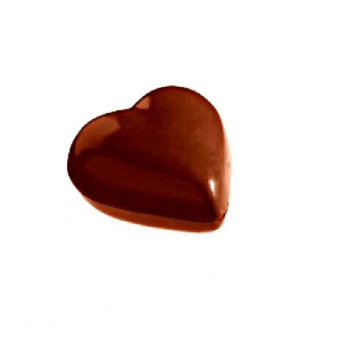 Polycarbonate Chocolate Mold Heart - 33x33x11 mm - 4x6 pc / 2x7.5 gr -275x135x24mm