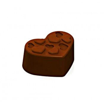 Polycarbonate Chocolate Molds - Hearts 33x25x14 mm - 10gr - 24 Cavity - 135x275x24mm