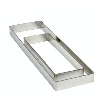 Pavoni Smooth Rectangular Tart Ring 28cm x 8cm x 2cm - 11''x3.14''x0.75''