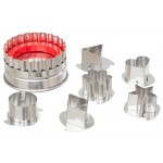 Ateco Large Linzer Stainless Steel Cookie Cutter  Set Ss