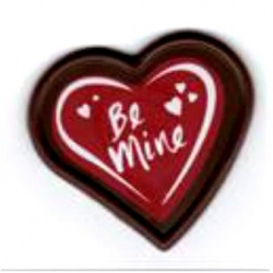 "Belgian Chocolate Decoration Red Chocolate Heart "" Be Mine"" -  254 Pces"