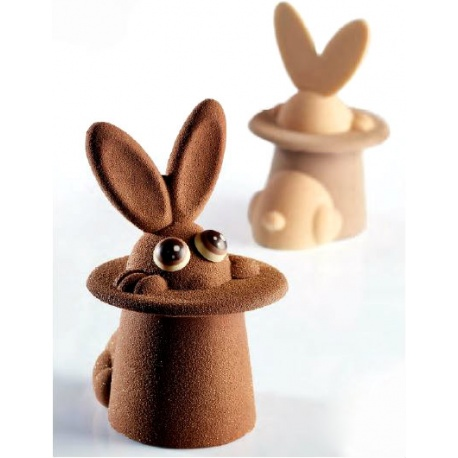 Pavoni Thermoformed Easter Chocolate Mold MAGIC BUNNY 100 x 120 x 170mm - 200g - 2 Pieces