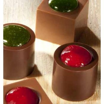 Polycarbonate Chocolate Mold Cylinder Indent - Ø22,50x20 mm- 4x8 pc - 9 gr -275x135x30mm