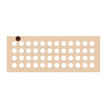 Rubber Chocolate chablons - Circle - 1.5cm x 1.5cm
