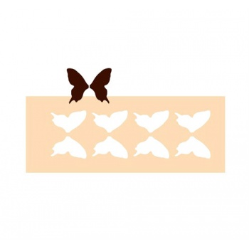 Rubber Chocolate chablons - Big Butterflies - 4 Indents