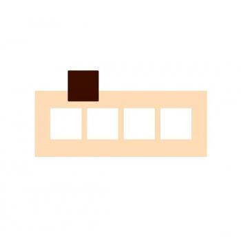 Rubber Chocolate chablons - Square - 7cm x 7cm