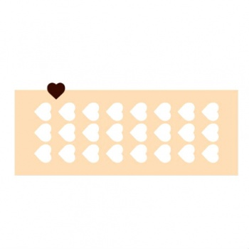 Rubber Chocolate chablons - Small Heart - 13cm x 3cm