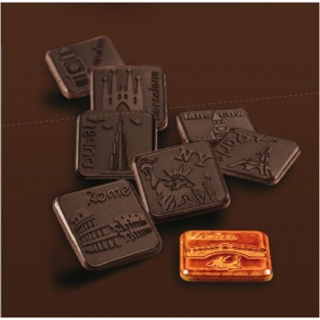 Polycarbonate Chocolate Praline Mold - Napolitains Molds - 8x 3 Cav - 34x34x4 mm - 4gr approx