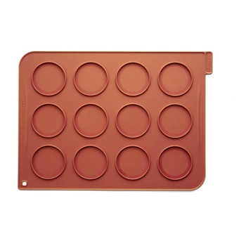 Silikomart Whoopies Pies Silicone mat - 300 x 400 x 1,5 mm – Ø 70 mm - 12 Indents