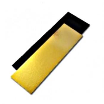Black/Gold Rectangular Yule Log Cake Board - 25 x 10 cm - 50pcs