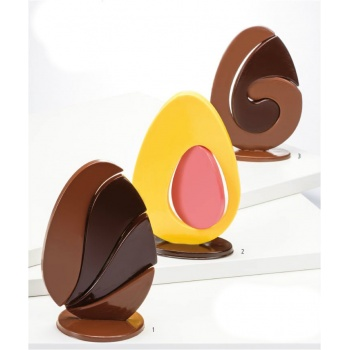 Thermoformed Chocolate PUZZLE EGGS - 3 differents sets -