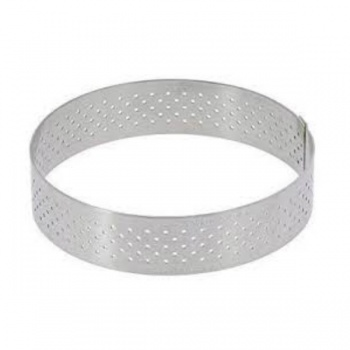 De Buyer Stainless Steel Perforated Tart Ring - 3/4'' High Round Ø 4 1/8''