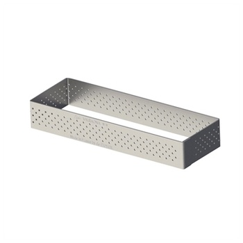 De Buyer Stainless Steel Perforated Tart Ring - 3/4'' High Rectangle 4 3/4''X1 1/2''