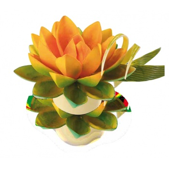 Thermoformed Lotus Chocolalte Mold Kit - Small - 8 Petals and 1 Hemisphere - 80x25x18 m