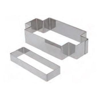 De Buyer Rectangular Tartlet Pastry Cutter - for 11.5cm x 4cm rectangular tartlet rings