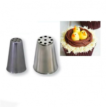 De Buyer Stainless Steel Bird Nest Pastry Tips - 9 Holes Ø3mm