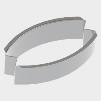 De Buyer Stainless Steel Calisson Shaped Individual Tartlet Cutters -