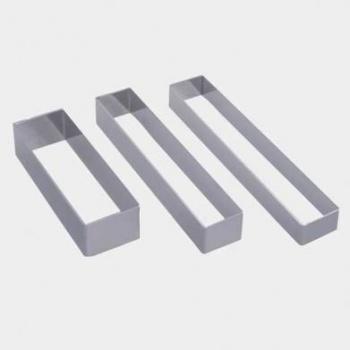 De Buyer Stainless Steel Rectangular Ring Shape - 10cm x 2.5cm x3cm