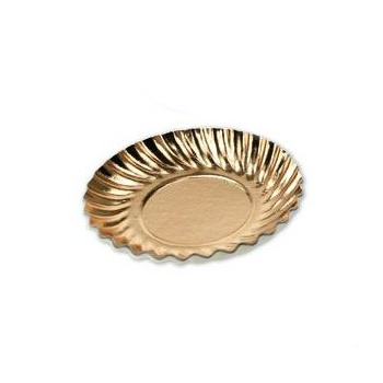Gold Round laminated Swirled Monoportion Board - 9.7cm - 3 1/8'' - 50pcs